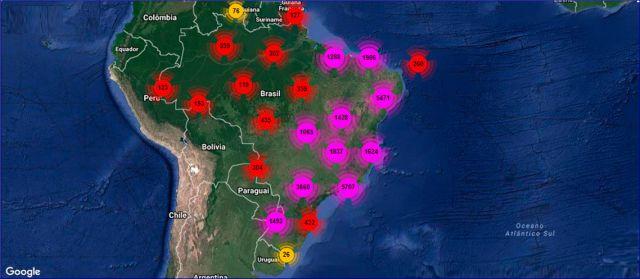 Central de Imagens  Mapa por Satlite